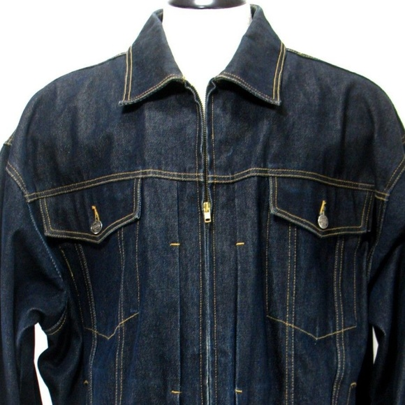 FUBU Other - Fubu - Denim Trucker Jacket - Zip Front Sz XXL